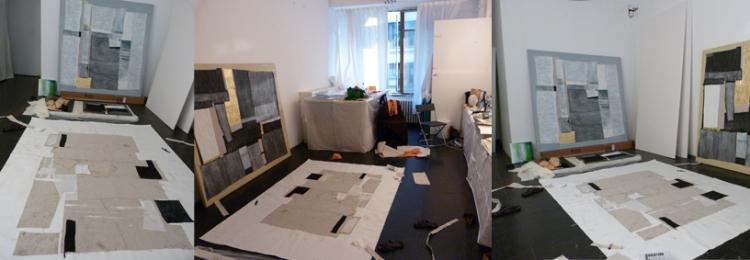 New canvas prep. work, NY 2013
