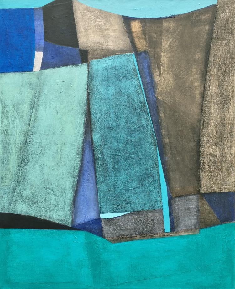 Cristal, 100x81cm, mixed media on canvas