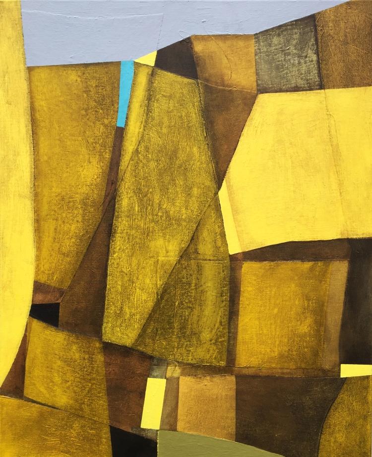 Golden, 100x81cm, mixed media on canvas