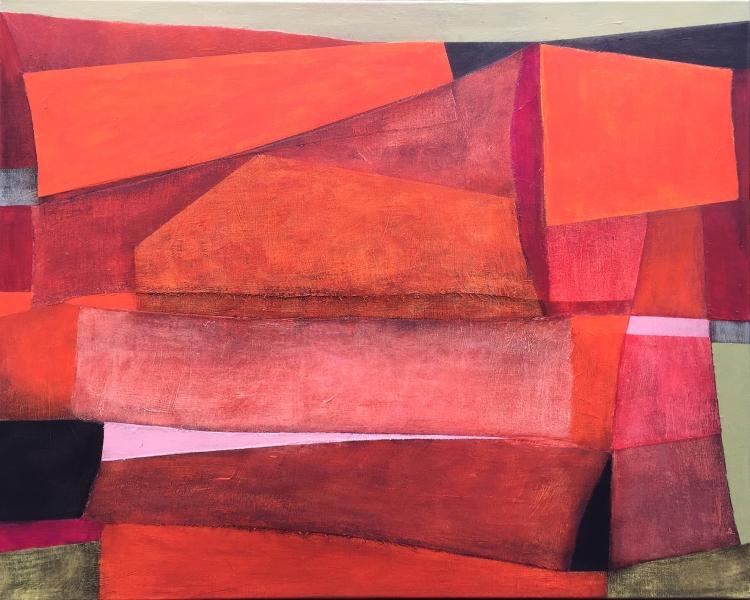 Monolit, 81x100cm, mixed media on canvas